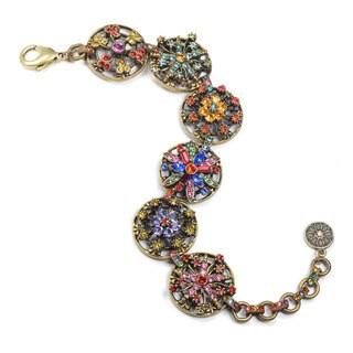 Sweet Romance Rainbow Crystal Calypso Statement Link Bracelet BR499