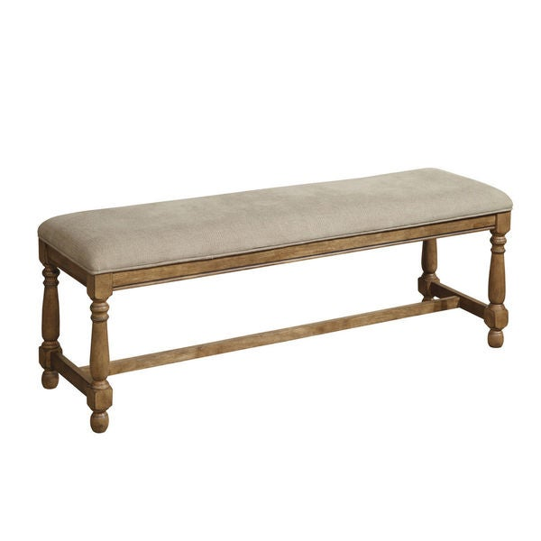 Rhone Brushed Almond Dining Bench With Cushion