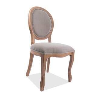 Medallion Oak Wood Side Chair (Set of 2)