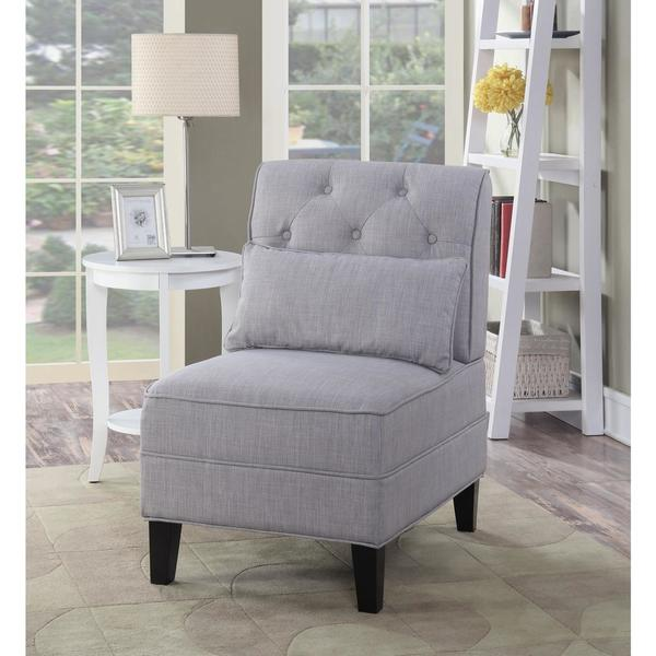 Shop Lyke Home Avery Tufted Slipper Accent Chair Free Shipping