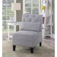 Lyke Home Avery Tufted Slipper Accent Chair