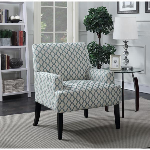 Shop Lyke Home Emilio Quatrefoil Accent Arm Chair Free