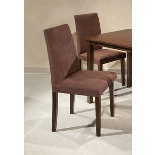 Intercon Lofts Chocolate Microfiber Parsons Dining Chair - 2 pack