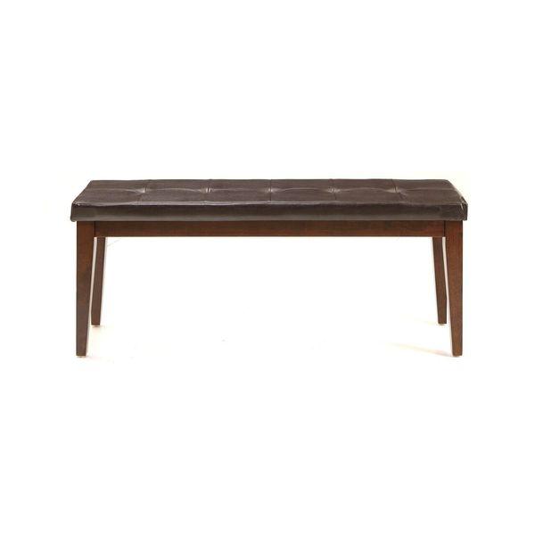 Intercon Kona Distressed Raisin Padded Seat Dining Bench