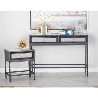 Urban Designs Soho 3-Piece Mirrored Console And End Table Set