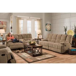 Cambridge Penn Brown Double Reclining Sofa