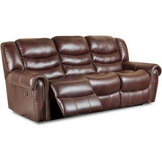 Cambridge Lancaster Burgundy Fabric Double Reclining Sofa