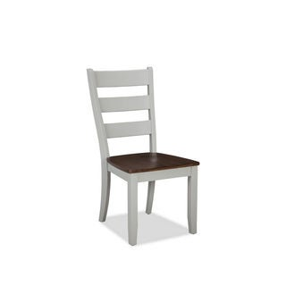 Intercon Small Spaces Cherry and Gray Ladderback Dining Chair (Pack of 2)