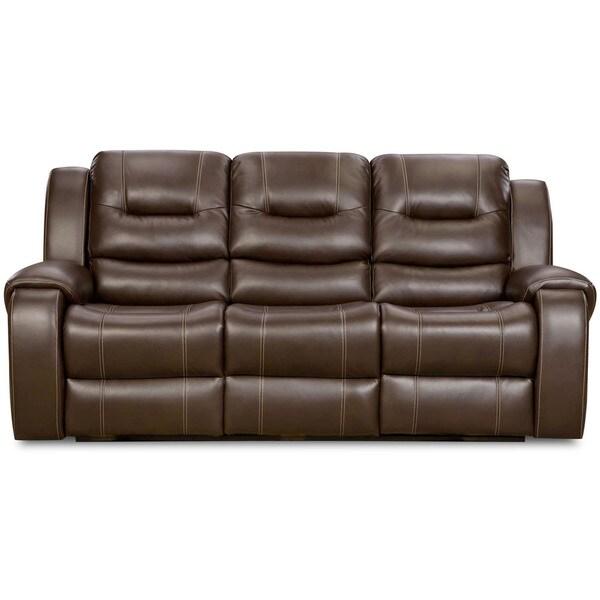 Cambridge Clark Brown Fabric Double Reclining Sofa