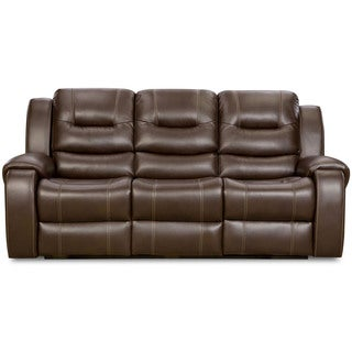 Cambridge Clark Brown Fabric Double Reclining Sofa