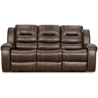 Cambridge Clark Brown Fabric Power Sofa