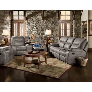 Cambridge Garrison Black Fabric Double Reclining Sofa