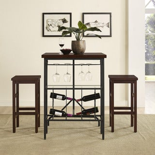 Sienna 3 Piece Casual Dining Set in Rustic Mahogany