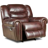 Cambridge Lancaster Burgundy Fabric Glider Recliner