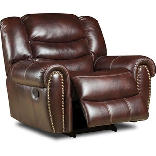 Cambridge Lancaster Burgundy Fabric Power Recliner