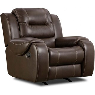 Cambridge Clark Brown Fabric Rocker Recliner