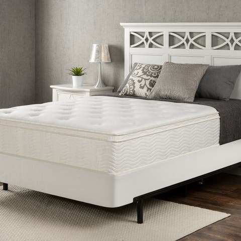 Priage by Zinus 12 inch King-size Pocketed Coil Euro Top Mattress