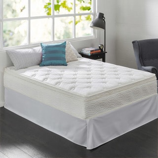 Priage 12-Inch Full-size Pocketed Coil Euro Top Mattress