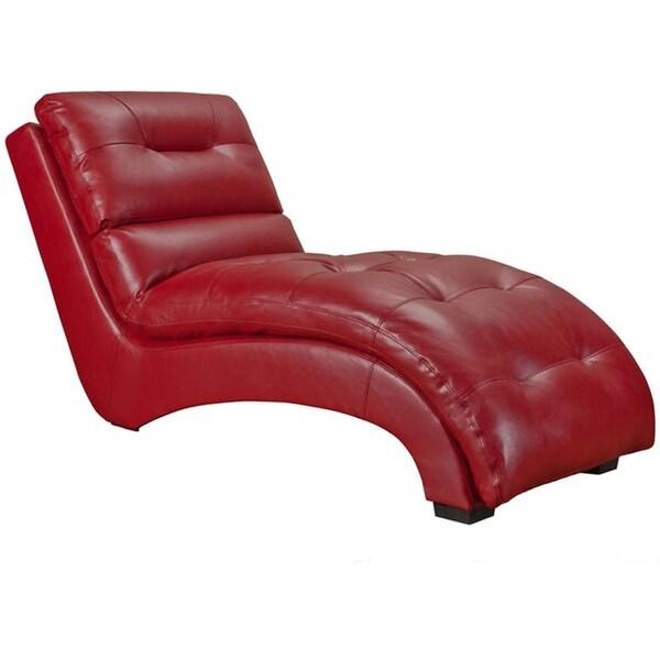 Shop Cambridge Savannah Red Faux Leather Chaise Lounge Free