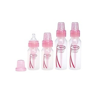 Dr. Brown's Pink Bottles 4 Pack (2 8-ounce bottles) and (2 4-ounce bottles)