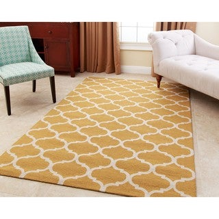 Abbyson Hand-tufted Carson Yellow New Zealand Wool Rug (3' x 5') (As Is Item)
