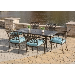 Hanover Traditions Blue 7-piece Outdoor Dining Set