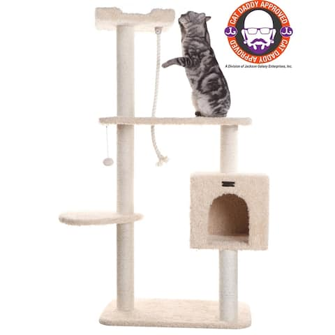 "Armarkat 57"" Beige Cat Tree"