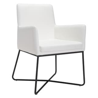 Zuo Axel White Lounge Chair