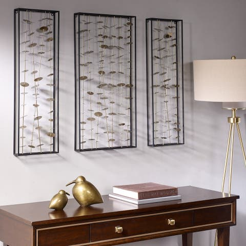 Madison Park Signature Gold Metal Wall Decor Set of 3
