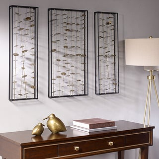 Link to Madison Park Signature Gold Metal Wall Decor Set of 3 Similar Items in Wall Sculptures