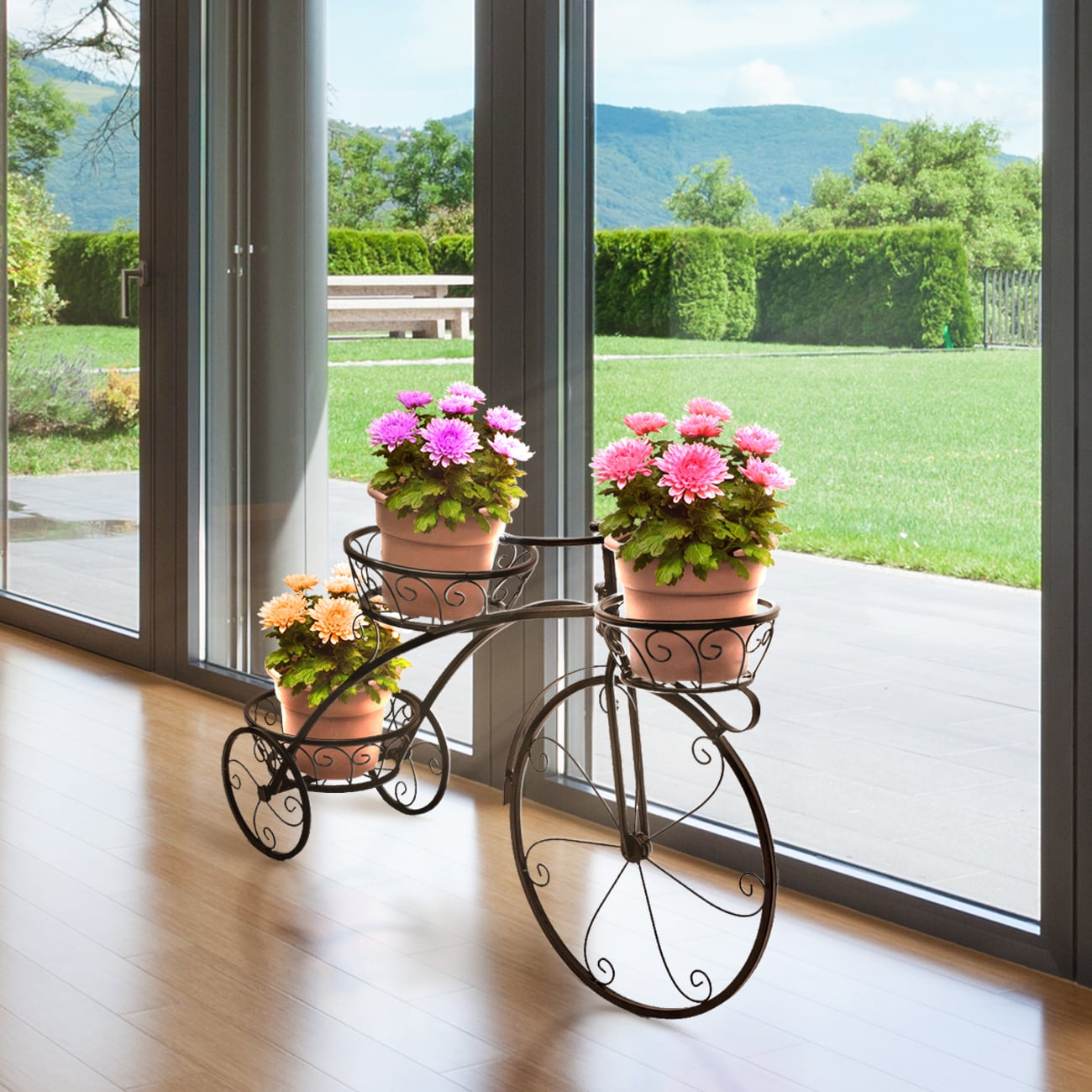 SorbusΒ' Tricycle Plant Stand - Flower Pot Cart Holder - ...