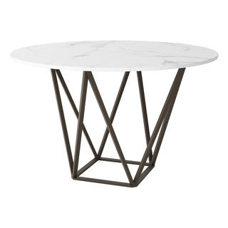 Zuo Tintern Stone and Antique Brass Dining Table
