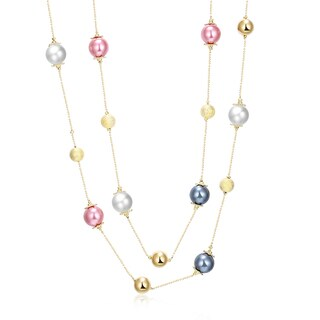 Hakbaho Jewelry Gold Plated Tone Petite CZ Dangling Necklace