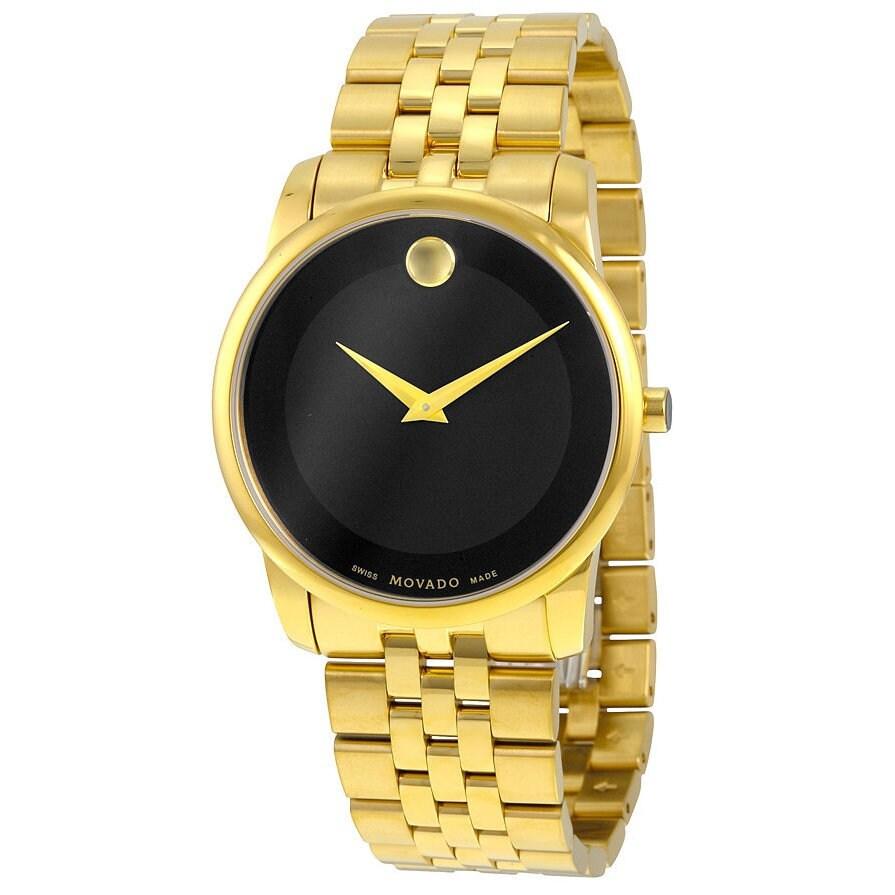 Movado Museum Classic Gold-Tone Men's Watch 0606997 (Watc...