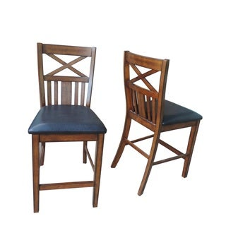Solid Wood Counter Height Chair, Set of 2