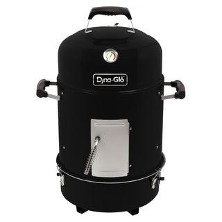 Dyna-Glo DGX376BCS-D Compact Charcoal Bullet Smoker - High Gloss Black