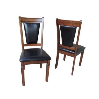 Nathaniel Home Jasmine Collection Brown Solid Wood Cushioned Dining Chair (Set of 2)