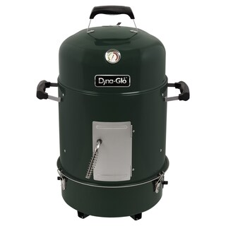 Dyna-Glo DGX376VCS-D Compact Charcoal Bullet Smoker - High Gloss Forest Green