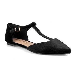 Mark and Maddux Devin-02 T-strap Women's Pointed Toe flats