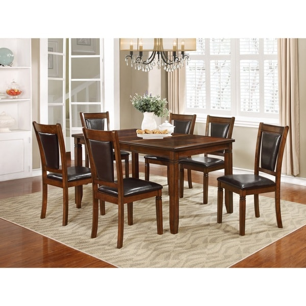 Free Kitchen Solid Oak Dining Room Sets Renovation With: Shop Nathaniel Home Jasmine Collection Solid Wood 7-piece