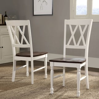 Crosley Shelby White Finish Dining Chair (Set of 2)