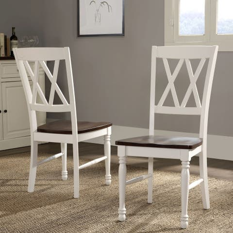 Shelby Dining Chair in White Finish (Set of 2)