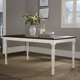 Shelby Dining Table- Black - White