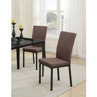 Aqilah Black Metal/Fabric Dining Chairs (Set of 4)
