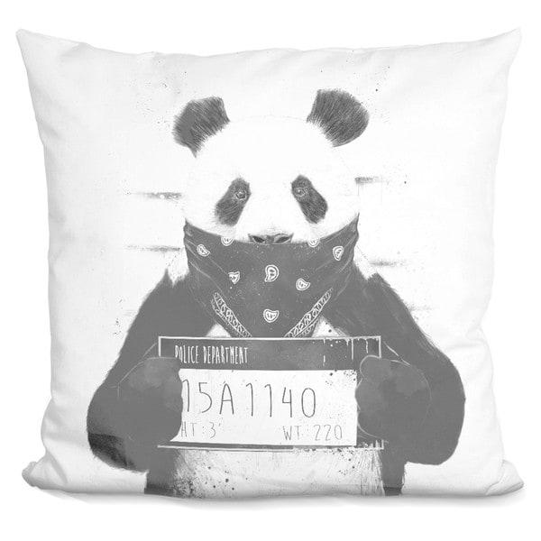 Balazs Solti 'Winter owl' Throw Pillow