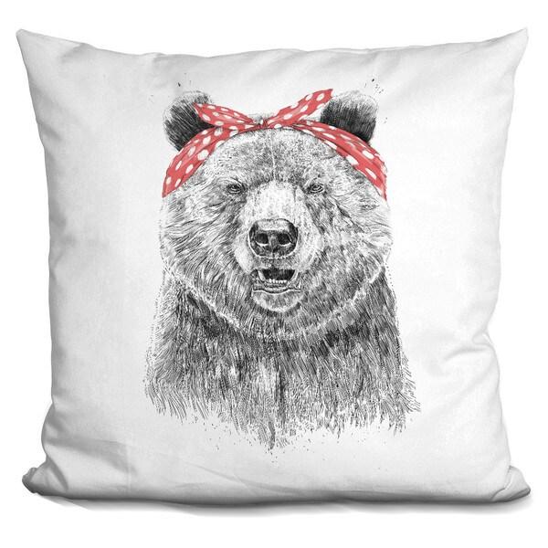 Balazs Solti 'Wild bear' Throw Pillow