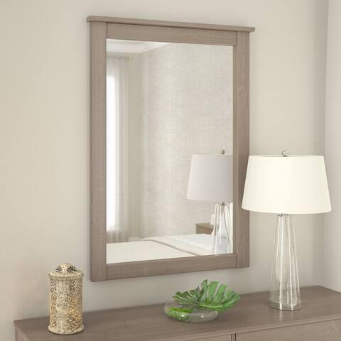 """Strick & Bolton Elizabeth Ash Grey Mirror - Ash Grey - 31.57""""W x 1.77""""D x 43.23""""H"""