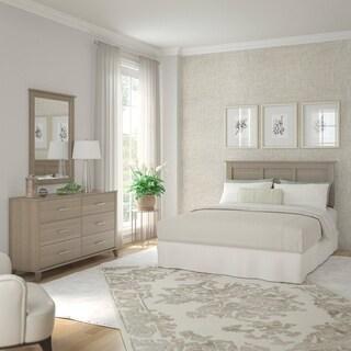 Somerset Ash Grey Dresser With Mirror And Headboard