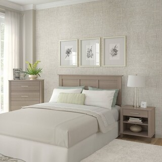 Somerset Ash Grey Headboard, Chest of Drawers, and Nightstand Bedroom Set