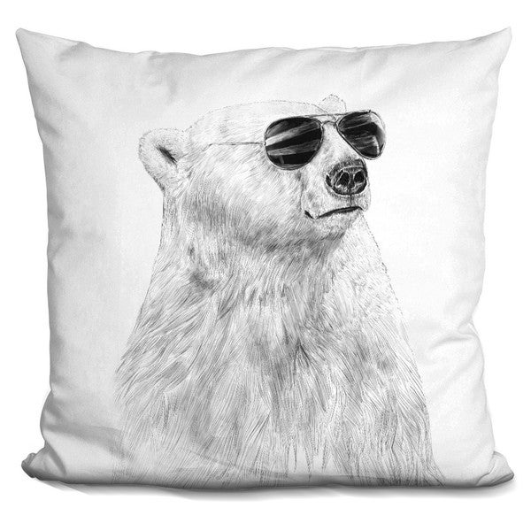 Balazs Solti 'Skull n roses' Throw Pillow